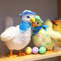 Egg Dropping Mama Hen Egg Laying Interactive Electric Stuffed Animal Plush Toy