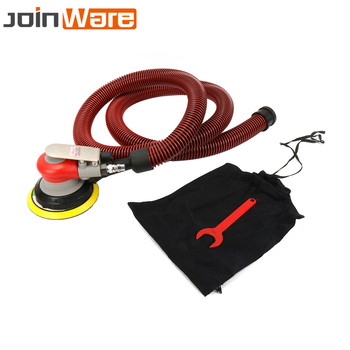 Air Random Orbital Palm Sander for 5inch 125mm Pad Pneumatic Tool With Dust Collection Hose Wrench Connector Polisher Dust Bag