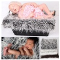 Faux Fur Blanket Basket Stuffer Mongolia Fur Photography Props Newborn Photography Props Fur wool Mat Background carpet 50X50cm