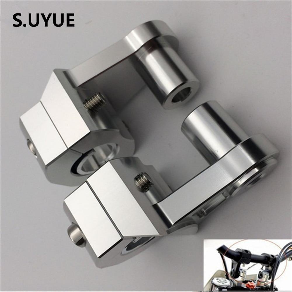 Universal Anodized 2 Inch Pivoting Motorcycle Handlebar Riser For 22mm or 28mm Bars Clamp for suzuki yamaha kawasaki bmw honda