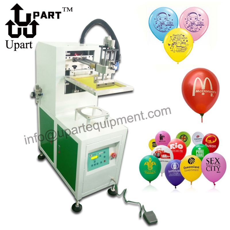 single color semi automatic Latex balloon silk screen printing machine title=