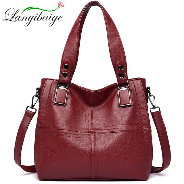 Genuine Leather Casual Shoulder Bags