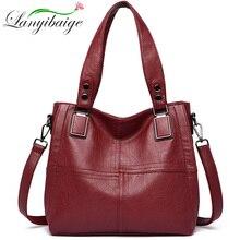 Новая роскошная Брендовая женская кожаная сумка из натуральной кожи, повседневные сумки тоут высокого качества из мягкой овчины, женские большие сумки на плечо