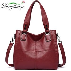 Image 1 - Новая роскошная Брендовая женская кожаная сумка из натуральной кожи, повседневные сумки тоут высокого качества из мягкой овчины, женские большие сумки на плечо
