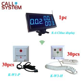 433.92 мГц неотложной медицинской помощи медсестра кнопка вызова система для больницы Clinic (1 шт. дисплей + 30 шт. K-W1-P + 30 шт. K-W3-H)