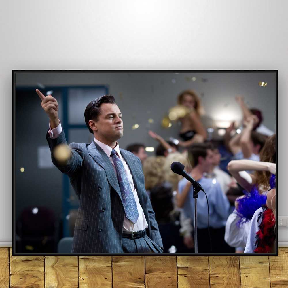 THE WOLF OF WALL STREET (2013) MOVIE Art Silk Fabric Poster Print Wall Pictures For Room Decor image