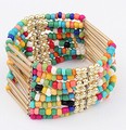 Woman Jewelry 2016 Fashion Bohemia Style Multilayer Metal Bracelet Colorful Beads Coin Tassel Bracelets S002
