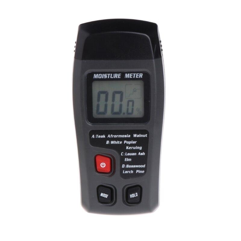 Wood Moisture Meter Analyzer Humidity Tester Timber Damp Detector Hygrometer 2 Pin brand handheld digital wood moisture meter data hold measure in 4 tree species humidity tester damp detector hygrometer