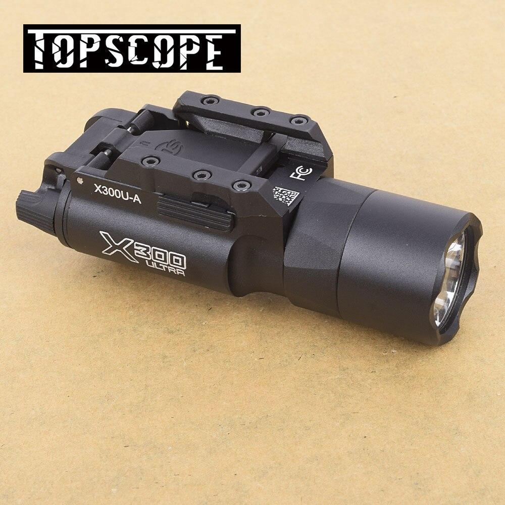 Tactical X300U High Output LED 500 Lumens Flashlight Light Handguns Picatinny Weaverer Universal Rails Rifle Scope