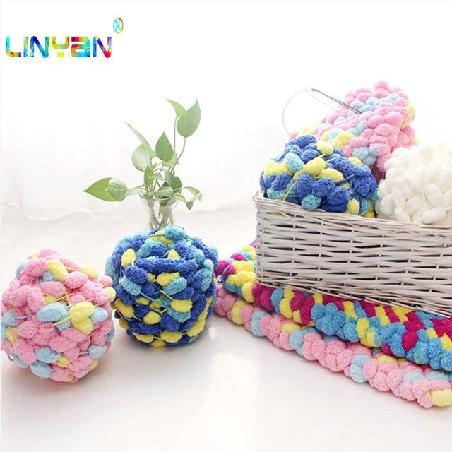 220 g/lote grueso crochet línea DIY Flourish hilo bufanda pequeña ...