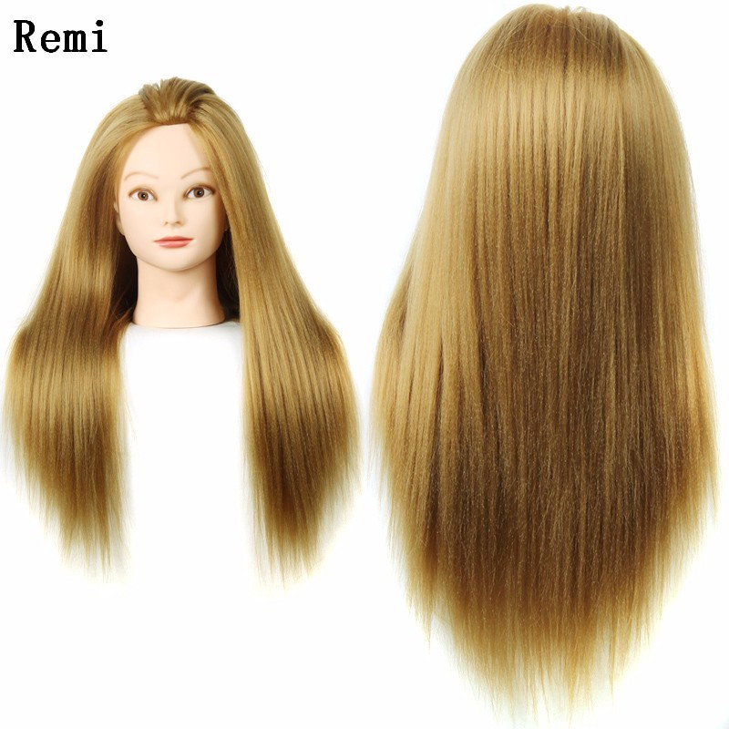 24 Mannequin Head Hair Yaki Synthetic Maniqui Hairdressing Doll Heads Cosmetology Women Hairdresser Manikin In Mannequins From Home