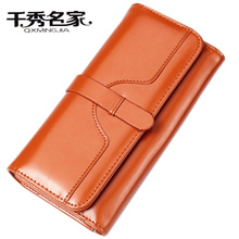 wallet,Five colors Free shipping Women Wallets PU Leather Female Wallet Long Design Zipper Coin Purses Vintage Lady Clutch Purse