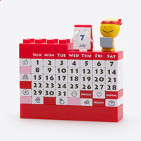 Coloffice 1PC Plastic Block Calendar Stationery Decorative Furnishing Calendar Desktop Calendar Learning Periodic Planner Table