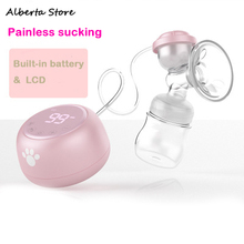 цена на 2019 New Baby Electric Breast Pump With Display Pp Bottle Usb Charging Convenient Powerful Breast Pump Bottle For Maternal