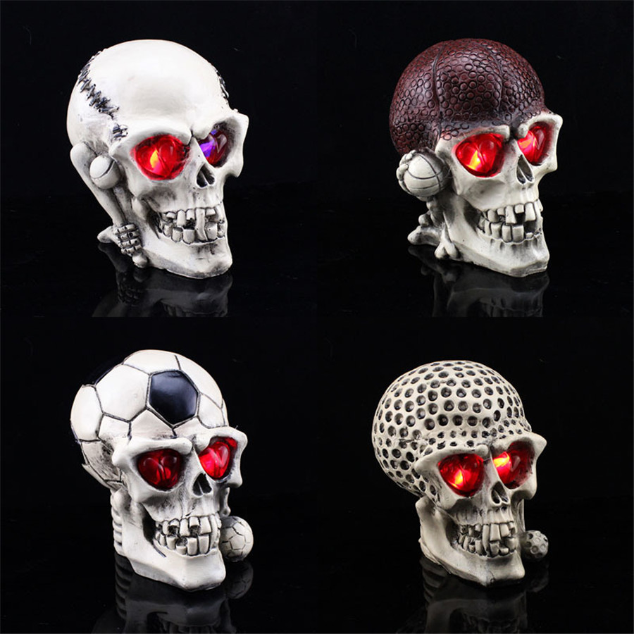 2016 halloween decoration creative novelty skull toy april fools day joke scary horror resin skull decoration free shipping