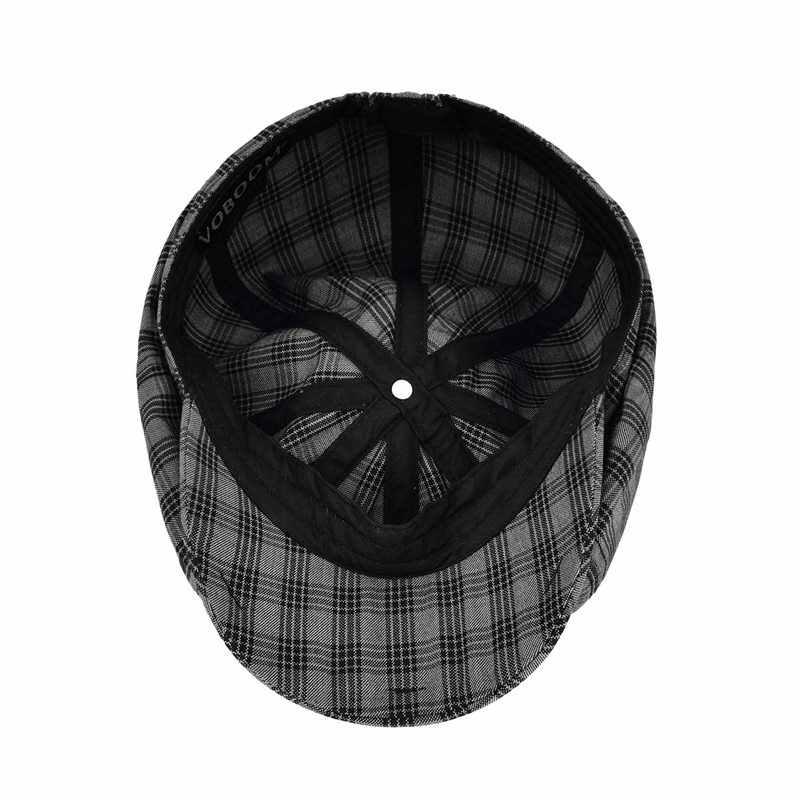 VOBOOM, летняя кепка Newsboy для мужчин и женщин, плоская кепка, клетчатая, в клетку, с окном, Гэтсби, таксистка, шляпа водителя, ретро берет в стиле винтаж, Boina 103