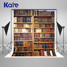 Kate  10x10ft Retro Bookcase Photography Backdrops Back To School Photo Backgrounds Books Children Backdrop