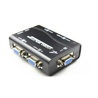 New Arrival 1 To 4 Ports VGA Video Splitter Duplicator 1 In 4 Out 250MHz Device