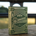 1 Deck of T11 Monarchs Playing Cards GREEN Edition Monarch Deck by Theory11 Magic Tricks props magic cards 81242