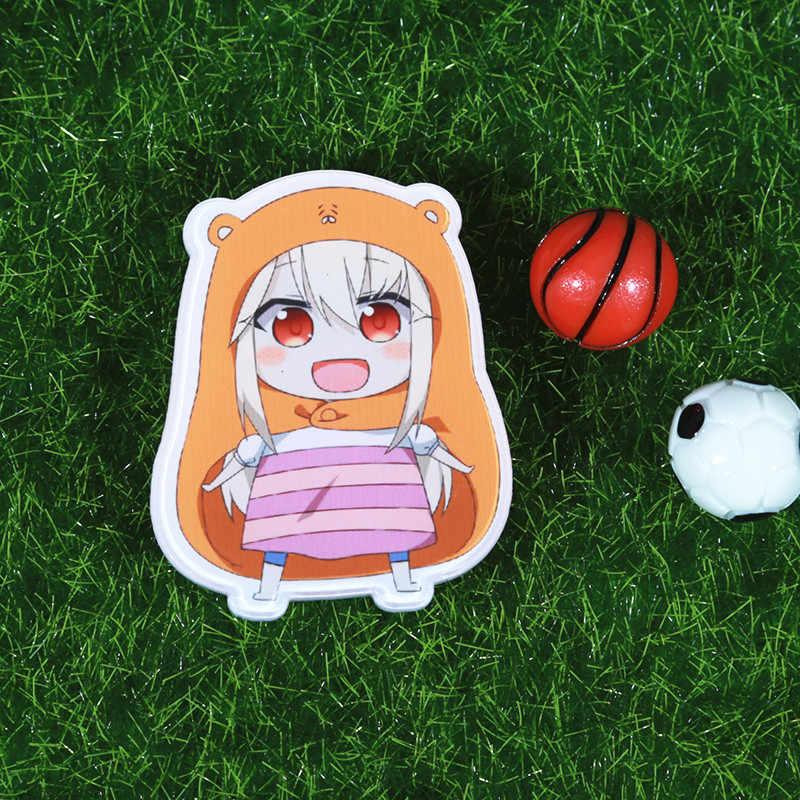 Fffpin Bros Lencana Jepang Anime DOMA Umaru Breastpin Pin Koin Mengumpulkan Rusia Spanyol Korea Rumah Mobil Ransel Ornamen China Ikon
