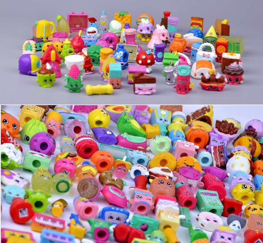 100Pcs/lot Many Styles Shop Action Figures For Family Fruit Kins Shopping Dolls Kids Christmas Gift Playing Toys Mixed Seasons ...