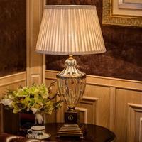 Современные хрустальные Спальня настольная лампа Ткань абажур Гостиная украшения Abajur Настольная лампа для Спальня Lamparas De Mesa