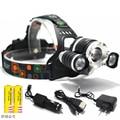 8000 Lumen Adjust Focus T6+2R5 3*LED working lamp 4 Modes Caming Hunting Adjustable Rechargeable LED Headlamp