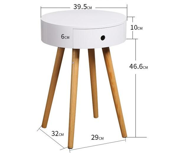 Living Room Corner Table Round Coffee Table Modern Bedside Table With Drawer creative apartment living room coffee table round table simple modern small coffee table corner table