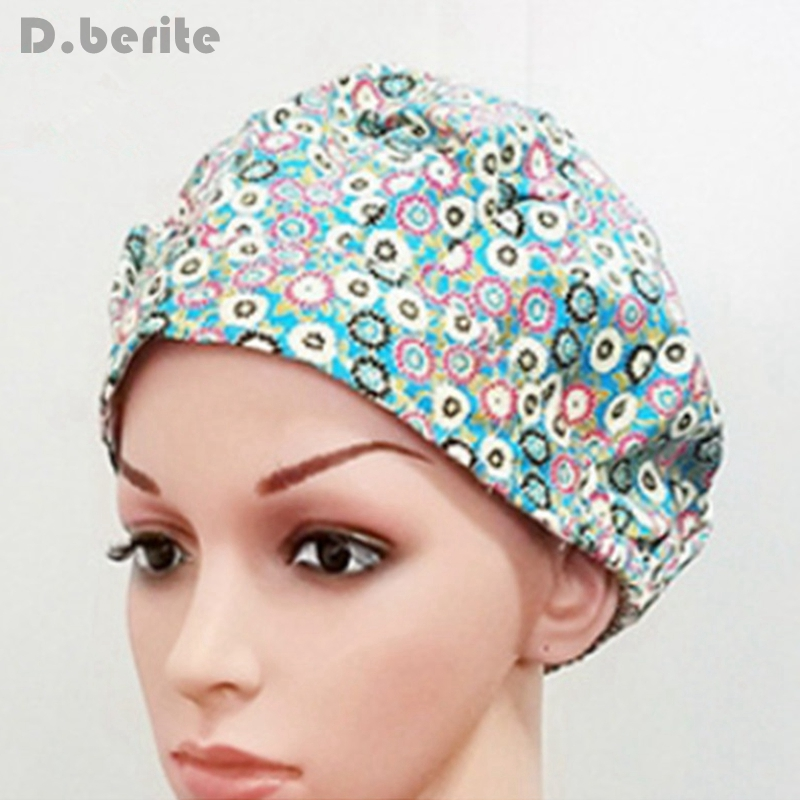 Women Mens Printing Colorful Doctor Nurse Cotton Beauty Hat Scrub Surgery Medical Surgical Unisex Cap NEW QDD9227