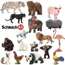 จำลองสัตว์ป่าของเล่นสีขาวเสือหมีแพนด้ากอริลลาหมีขั้วโลกสิงโตF Lamingoกระต่ายไก่ไก่คอลเลกชันสัตว์เด็กของเล่น