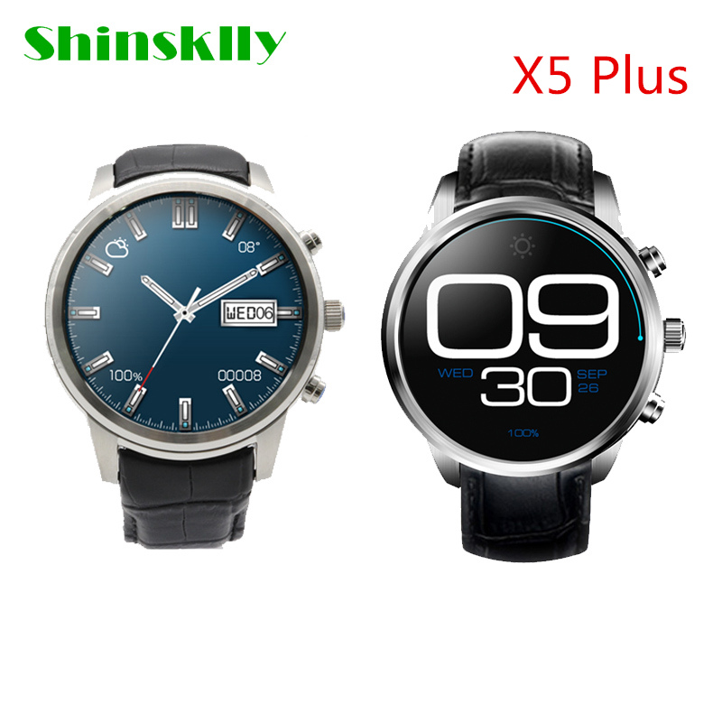 Shinsklly X5 Plus 3G Android 5.1 Smartwatch Phone GPS MTK6580 Quad Core 1.3GHz 1GB 8GB WiFi Bluetooth Heart Rate Tracker for IOS no 1 d6 1 63 inch 3g smartwatch phone android 5 1 mtk6580 quad core 1 3ghz 1gb ram gps wifi bluetooth 4 0 heart rate monitoring