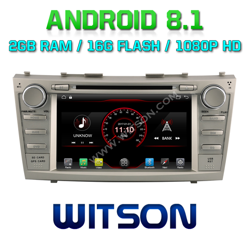 WITSON Android 8.1 CAR DVD PLAYER For TOYOTA CAMRY 2007-2011 CAR AUDIO PLAYER WITH GPS MIRROR LINK/ 4G/DVR/DAB/OBD/TPMS SUPPORT