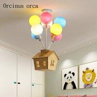 Мультфильм творческий цвет горячий воздух подвеска в виде шара лампа спальня мальчика девочки лампа для детской комнаты современный свето