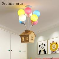 Cartoon creative color hot air balloon pendant lamp Boy Girl Bedroom children room lamp modern LED house pendant lamp
