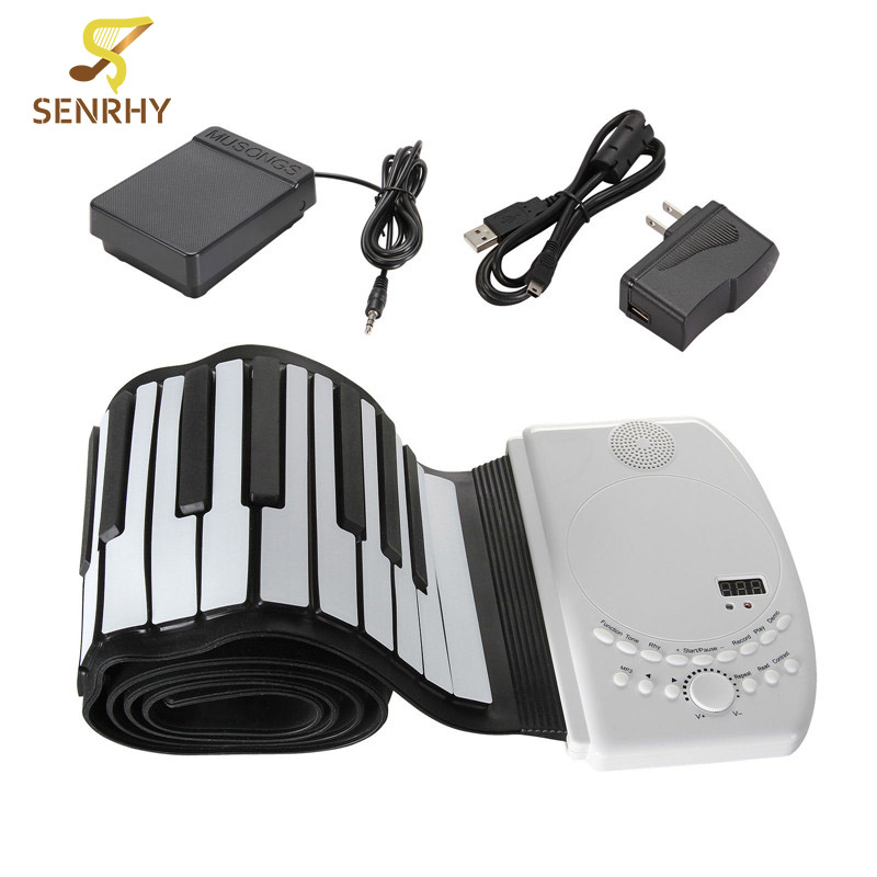 SENRHY 88 Keys Flexible Foldable Piano Portable Electric Digital Roll up Keyboard Piano For Musical Instruments Lover Presents zebra musical instruments keyboard instruments piano sw 37k 37 keys melodica mouth organ with handbag