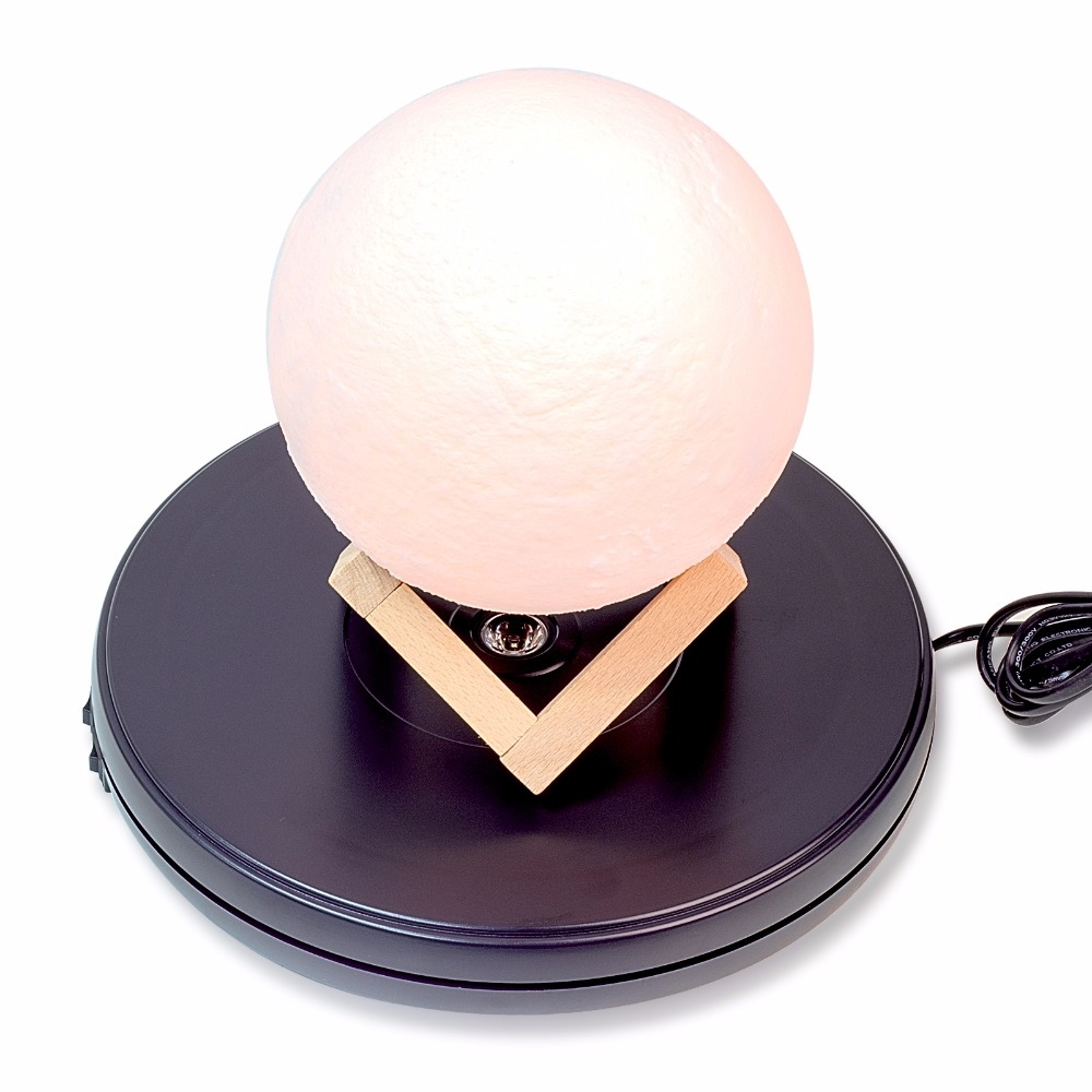 25cm Led Light Top Electric Motorized Rotating Display Turntable For Model Jewelry Display Stand Or Photography,Max Load 11kg