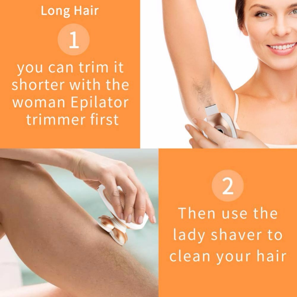 Women/'s Painless Hair Remover for Leg Women Epilator Hair Removal Electric Shaver for Womens Legs,Face,Lips,Bikini
