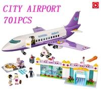 Legoed girls city technic toy Princess Friends Airport big plane model Building Figures Block girl Toys Compatible LegoING 41109