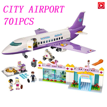 335416bfd90 Legoed girls lepin city toy Princess Friends Airport big plane model  Building Figures Block girl Toys