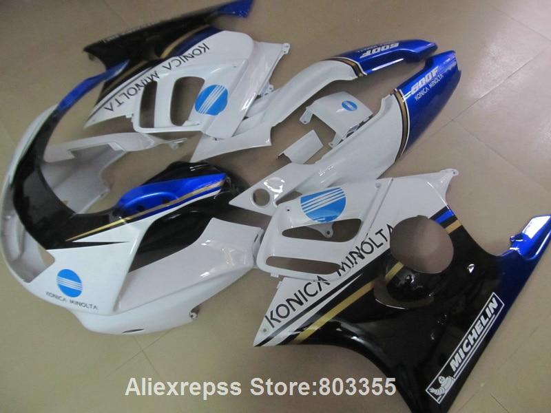 High quality Fairings kit for HONDA CBR600 f3 96 95 cbr 600 ( White blue ) fairings 1995 1996 xl105