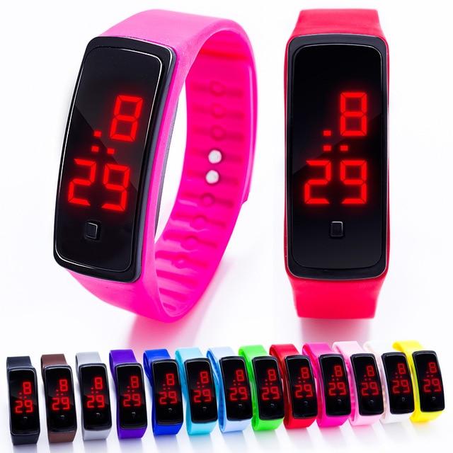 Silicone Led Sport Watch Men Women Children Electronic LED Digital Watch Man Lad