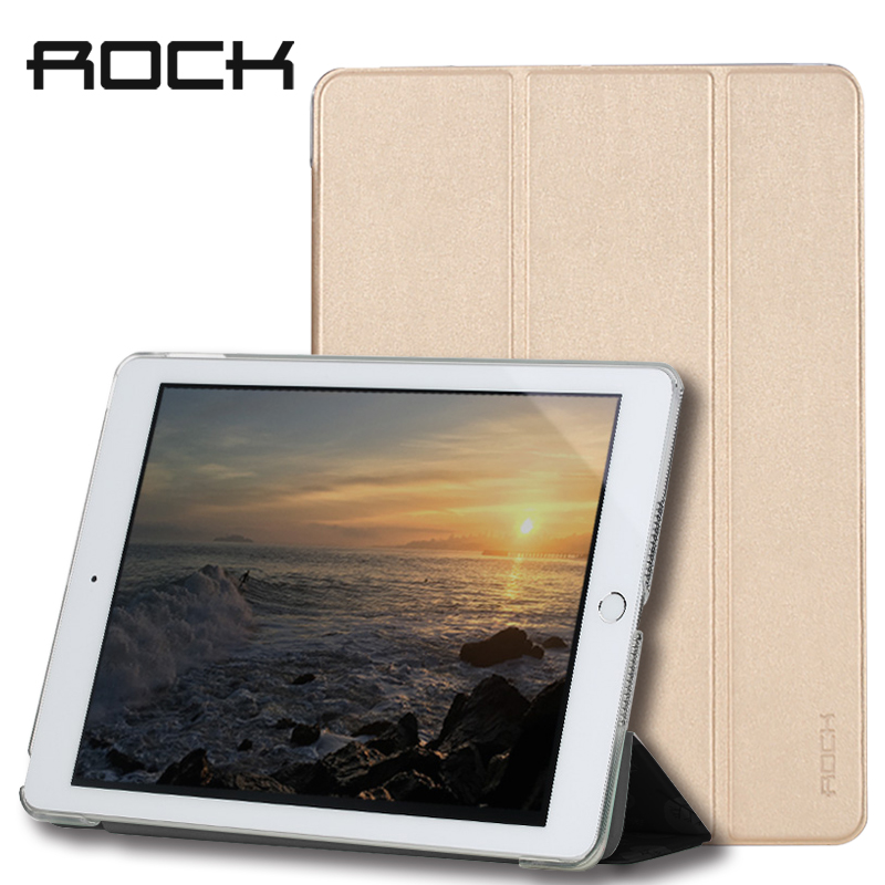 Rock Magnetic Flip Leather Case for iPad 2017 Case Smart Case Cover Ultra Slim Auto Sleep Wake Skin Fold Stand Protective Shell pu leather ebook case for kindle paperwhite paper white 1 2 3 2015 ultra slim hard shell flip cover crazy horse lines wake sleep
