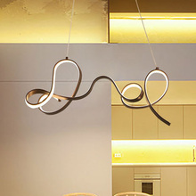 Designer Coffee Color Modern Led Chandelier Kitchen Living Dinging Room Light Fixtures LED Hanging