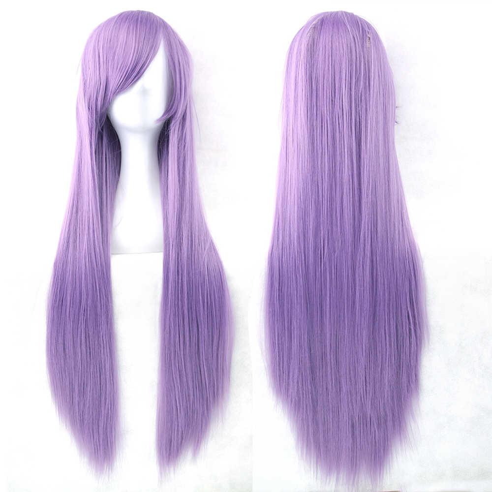 Soowee 24 Farben 32 zoll Lange Gerade Haarteil Hitzebeständige Synthetische Haar Natur Rot Grau Cosplay Perücke