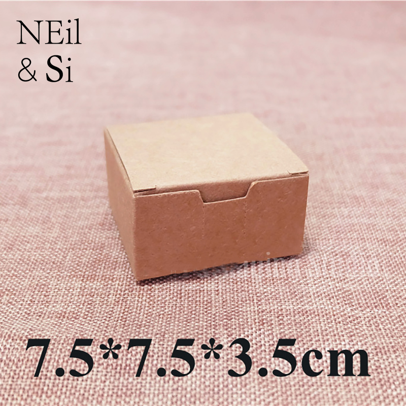 Gift Paper Box Wedding Favor Candy Handmade Soap Craft Packaging Kraft Boxes 7 5 7 5