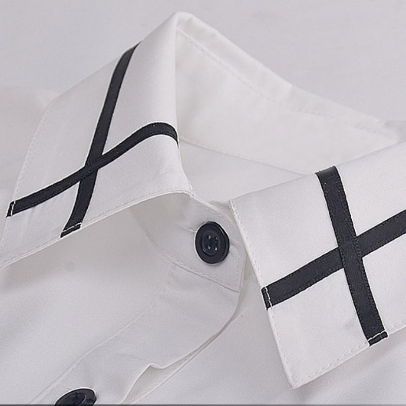 HTB1FHJzNXXXXXX1XVXXq6xXFXXXd - Fashion Ladies Office Shirt White Blue Tops Formal