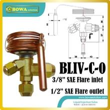 Температура реагировать расширительный клапан защиты системы охлаждения от слишком высоких газового разряда или температуры масла