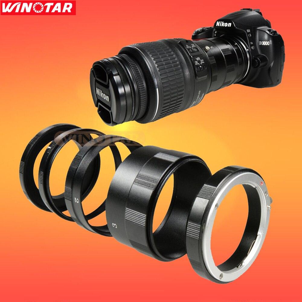 Tubo de extensión macro anillo adaptador de lente para nikon dslr d7000 d7100 D7200 D5200 D5100 D3200 D90 D700 D800 D810 D610 D500 D750 D600