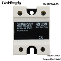 RM1E23AA25 Single Phase AC Solid State Relay,Industrial Analog Switching SSR 25A/24 280VAC,Isolation Voltage Regulator Relay