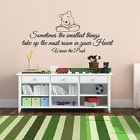 Ücretsiz Kargo Yaratıcı gülümseyen Winnie the Pooh Bebek Alıntı Duvar Çıkartması Kreş Çıkarılabilir Duvar Çıkartmaları ev dekorasyon